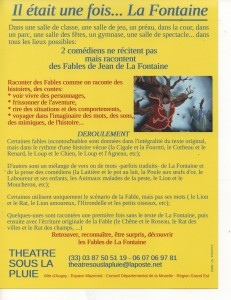 IL ETAIT UNE FOIS...LA FONTAINE (Verso) 001 001